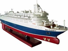 Queen Elizabeth 2 Wooden Model Ship