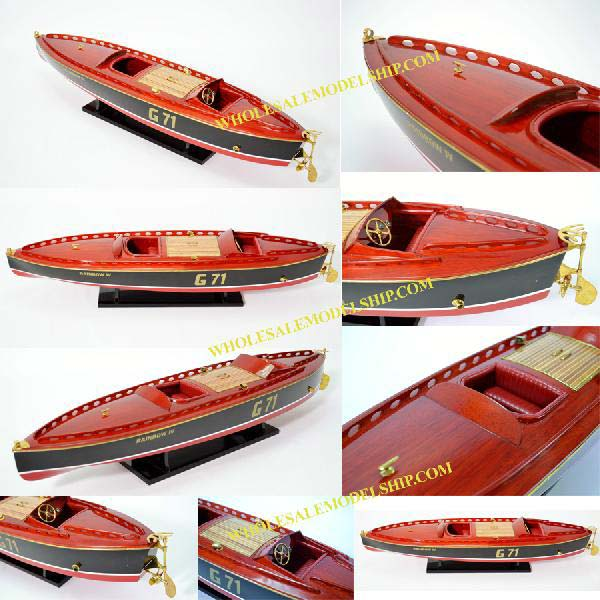 Rainbow IV Wooden Model Boat