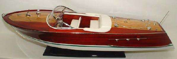 Riva Ariston Wooden Model Boat