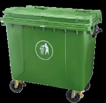 4 Wheeled Garbage Bin (1100 Ltr)