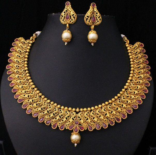 Designer Matte Finish Necklace Set