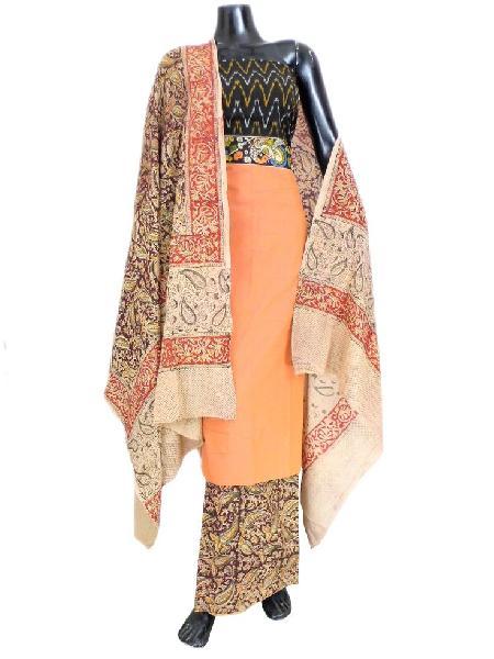 Unstitched Kalamkari Cotton Suits