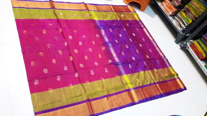 Pure Uppada Silk Jamdani Saree 05