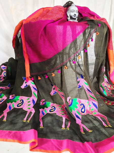 Resham Embroidery Saree 02
