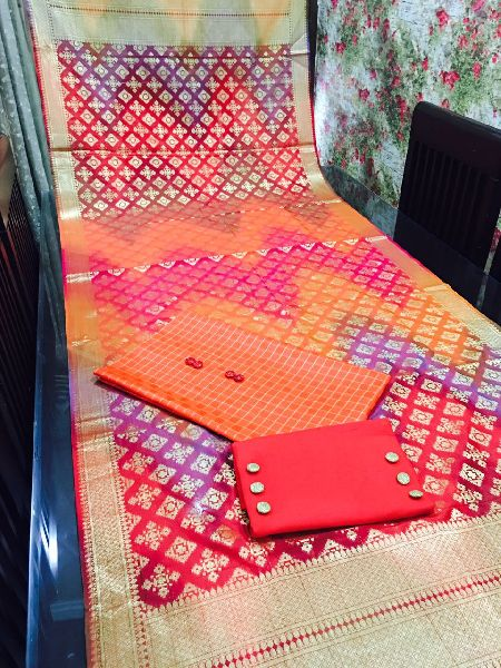 Unstitched Pure Banarasi Dupatta Suit 03