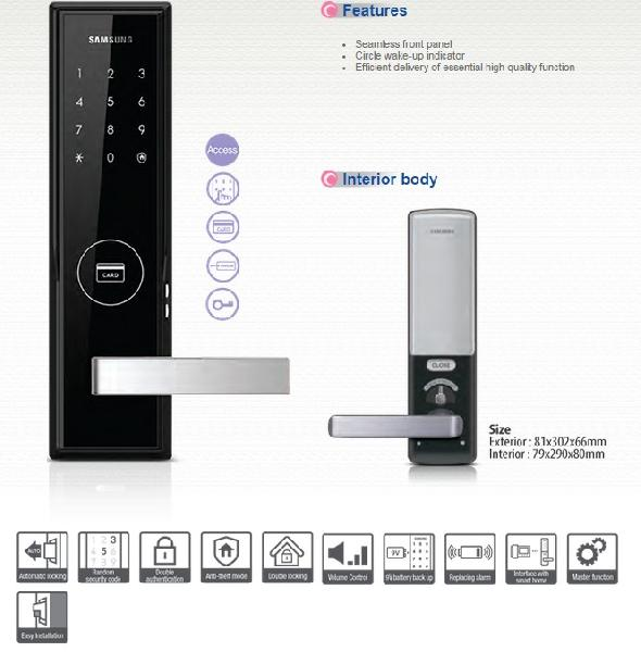 SHS-H505 Samsung Smart Digital Door Lock