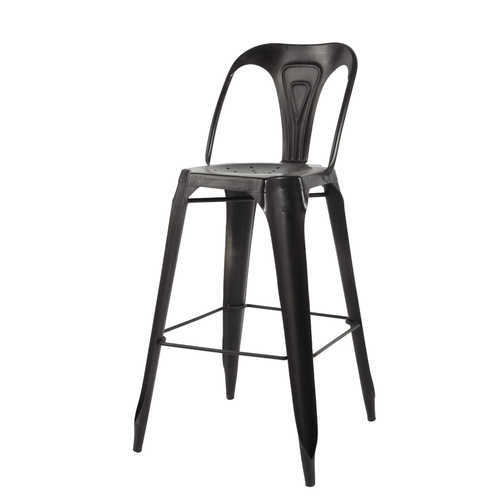 Black Color Metal Bar Chair