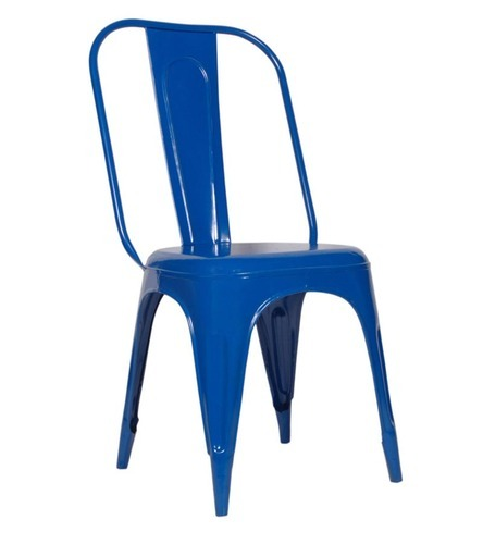 Dark Blue Color Metal Chair
