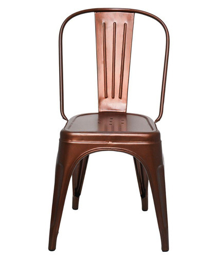 Dark Brown Metal Chair