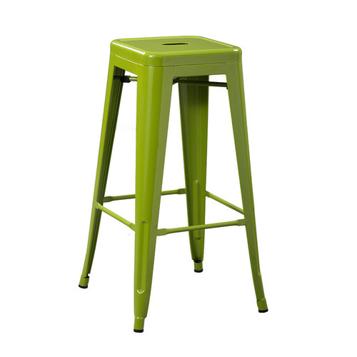 Green Metal Bar Stool