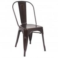 Light Brown Color Metal Chair