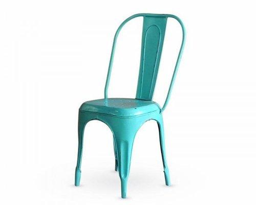Light Green Color Metal Chair