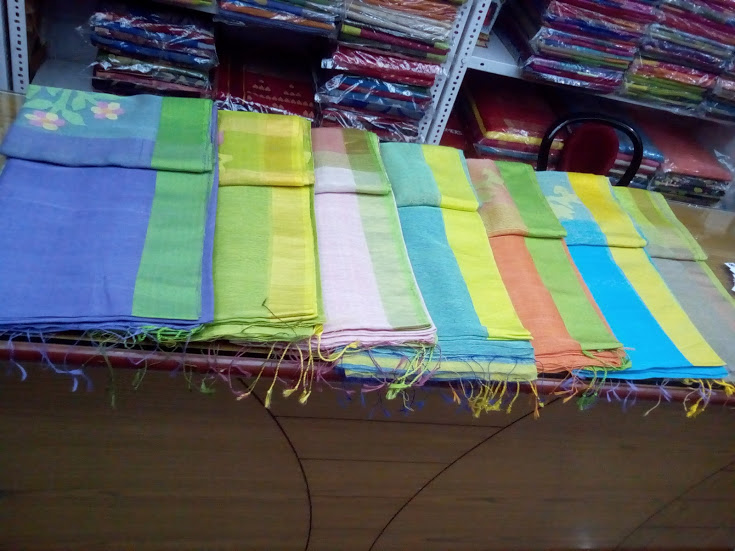 Silk Linen Saree 01
