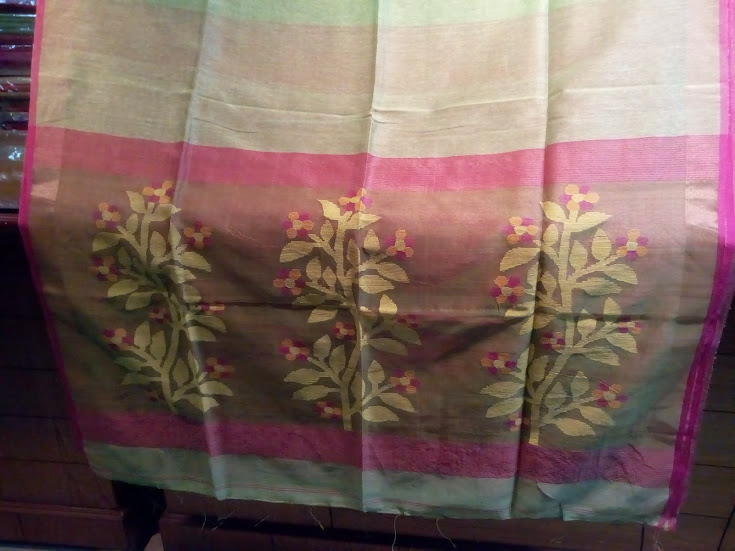 Silk Linen Saree 02