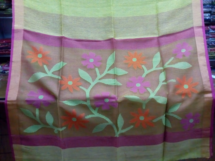 Silk Linen Saree 03