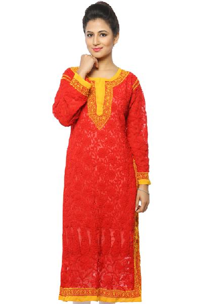 Ladies Lucknowi Long Kurtis