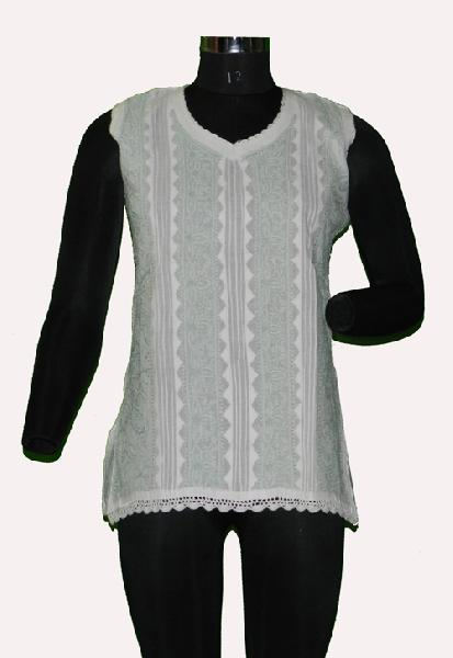 Ladies Lucknowi Short Kurtis