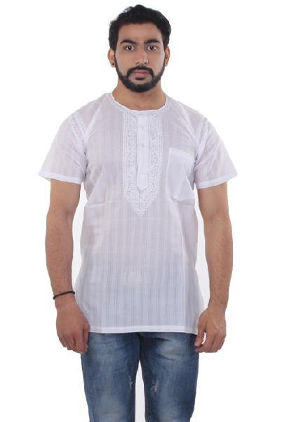 Mens Lucknowi Short Kurta
