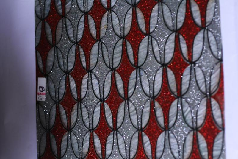 Red & Silver Barfi Surface Mate Fiber Sheets
