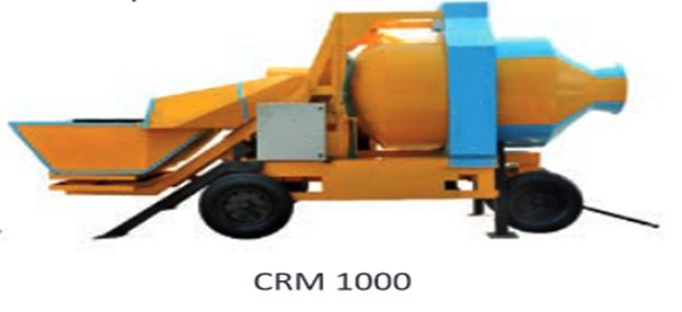CRM 1000 Reversible Concrete Mixer
