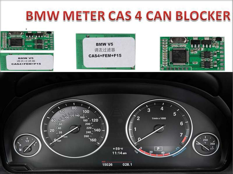 CANEMU Super Odometer CAN Filter for BMW CAS4, FEM