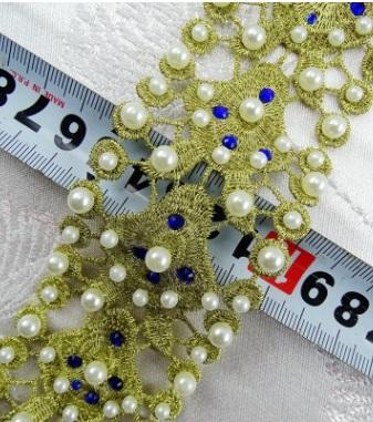 YS10312 Metallic Pearl Lace