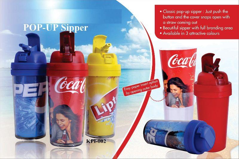 Promotional Pop Up Sipper Bottles