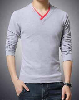 fd27ca4dc Mens Promotional Full Sleeve V Neck T-Shirts Manufacturer Supplier ...