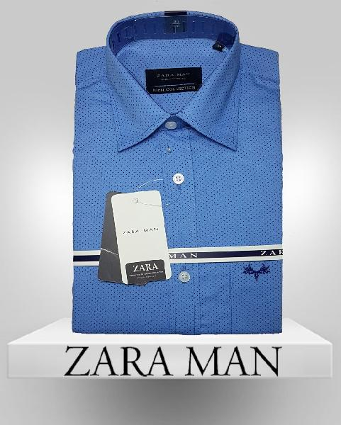 Mens Blue Color Casual Shirt