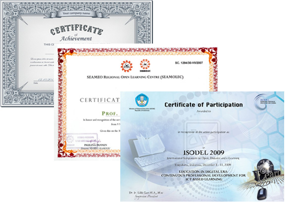 Certificate Offset Printing Services