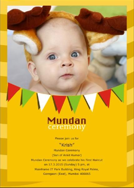 Mundan Card Screen Printing Services