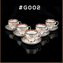 Gold Carpet Gold Line Series Cup & Saucer Set	 01