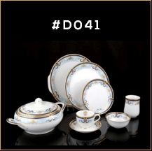 Gold Chain Gold Line Series Dinner Set 03