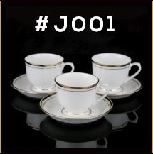 Gold Line Series Cup & Saucer Set 01