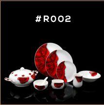 Red Rose Series Dinner Set 02