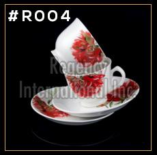 Red Rose Series Cup & Saucer Set
