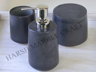 Gray Stone Bath Accessories
