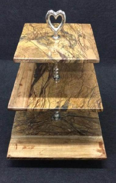 Marble Wood Cake Stand 05