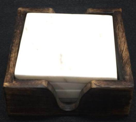 NS0012 Marble Wood Coaster Set
