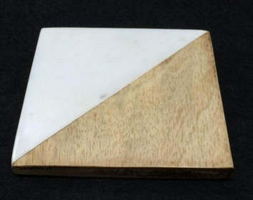 NS0022 Marble Wood Coasters Set