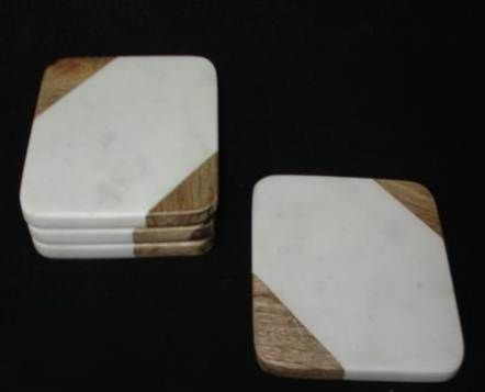NS0023 Marble Wood Coasters Set