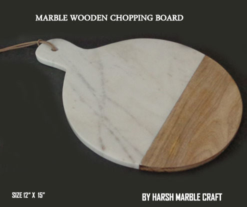 NS1525 Marble Wood Cutting Board