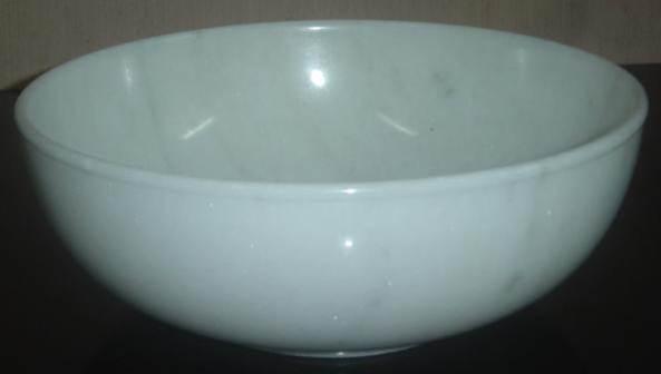 WB0011 White Marble Bowl