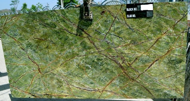 Green Water Marble Slabs : Rainforest green marble slabs manufacturer exporter