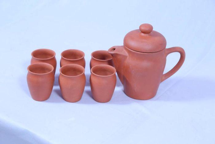 Terracotta Tea Set 01