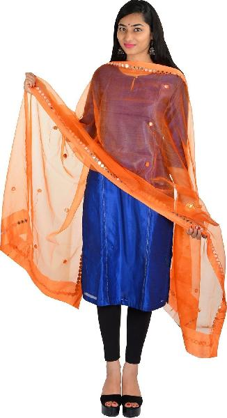 Brush Print Silk Dupatta 01
