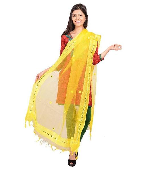 Brush Print Silk Dupatta 02