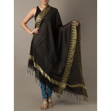 Brush Print Silk Dupatta 07