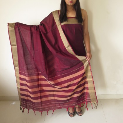 Brush Print Silk Dupatta 09