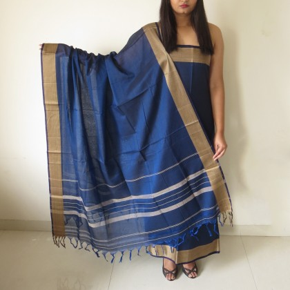 Brush Print Silk Dupatta 10